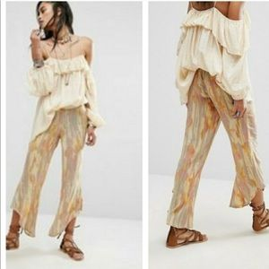 Free People Dancing Days Pull-on Print Pant
